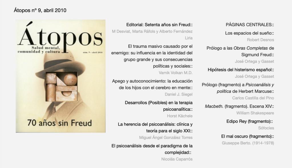 Átopos: 70 años sin Freud